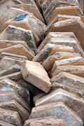 Pile of paving stones Stock Photos
