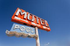 vintage, neon motel sign - stock photo