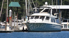 Luxury Yacht on the Water With Reflections  Stock Footage