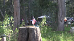 Camping ,campers - stock footage