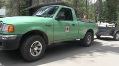 U.S. Forest Service cleaning truck Stock Footage