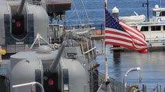Battle Ship Stock Footage