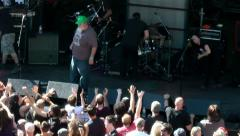 Rock, Punk, Rock Concert, Sub Pop Silver Jubilee Concerts, Seattle - stock footage