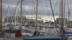 Stoke Bridge Maltings Trhoufh Masts, Ipswich p205 Stock Footage