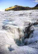 icelands icecap - stock photo