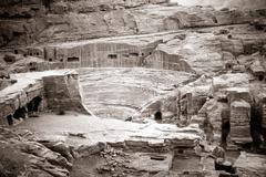 Amphitheater in petra Stock Photos