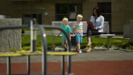 Stock Video Footage of family at a playground