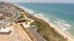 Israel Netanya beach Stock Footage
