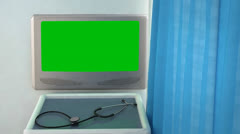 Blank medical screen closeup Stock Footage