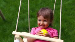 Carefree child Stock Footage