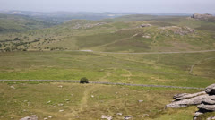 View from Rippon Tor Haytor Dartmoor National Park Devon Stock Footage