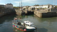 Stock Video Footage of Charlestown, Cornwall
