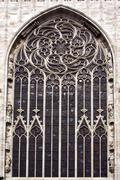 italy rose window in the - stock photo