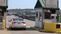 Toll booths - stock footage
