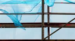 Fabric on  wind Stock Footage
