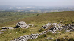 Top of a Tor in Dartmoor National Park Devon Stock Footage
