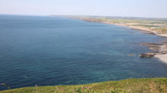 Cornwall sea view Widemouth Bay near Bude Stock Footage