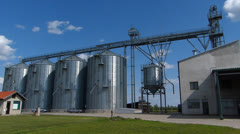 Agricultural Silo timelapse Stock Footage