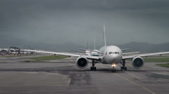 189  waiting for takeoff permission aircrafts Stock Footage