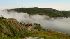 Signal Hill Fog Rolling In Stock Footage