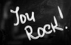 You rock! Stock Illustration