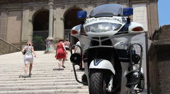 Police pressence in Rome (2) Stock Footage