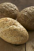 Rustic wholegrain loaves Stock Photos