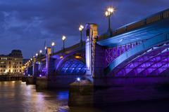 Southwark Bridge in London Stock Photos