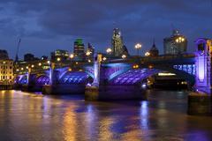 Southwark Bridge in London - stock photo