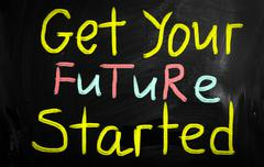 get your future started - stock illustration