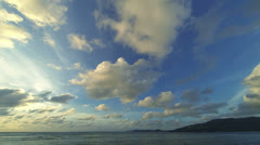 clouds over the ocean. evening, thailand - stock footage
