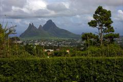 Stock Photo of hill in trou aux cerfs mauritius