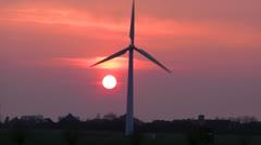 Green Energy - Wind Power - Wind Mill - Wind Turbines Stock Footage