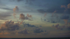Cloudy sky over the ocean. timelapse Stock Footage