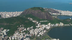 View from Christ the Redeemer Stock Footage