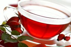 Rosehip tea Stock Photos
