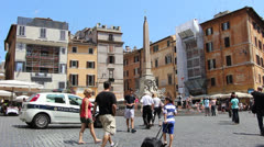 Police pressence in Rome (1) Stock Footage