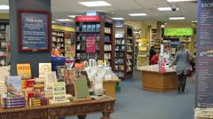 Inside of a bookshop, cambridge, england Stock Footage
