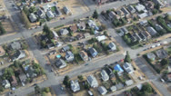 Stock Video Footage of Hot Summer Day in Suburban Neighborhood - Aerial View