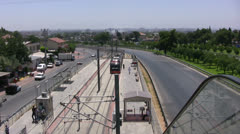 View of a tram station in Antalya Stock Footage