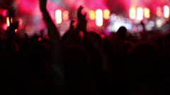 Concert Crowd - stock footage