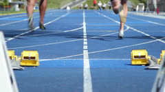 Track and field  start Stock Footage