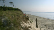 Stock Video Footage of Beautiful Darsser Weststrand Beach - Baltic Sea, Northern Germany