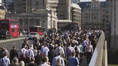 London Bridge Rush Hour Stock Footage