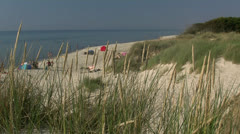 Beautiful Darsser Weststrand Beach - Baltic Sea, Northern Germany Stock Footage