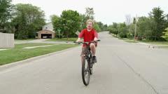 Bike boy on road 24 1 Stock Footage