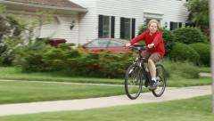 Sidewalk cycling 30 1 Stock Footage