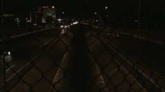 Night time Arroyo I-40 Stock Footage