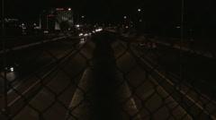 Night time Arroyo I-40 - stock footage