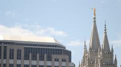 Salt Lake City LDS Temple Mormon Stock Footage